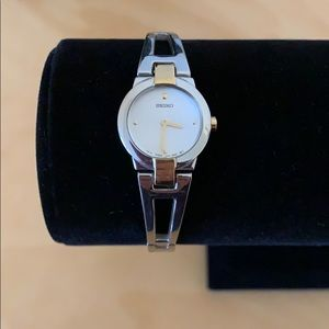 Seiko Stainless Steel Round Face Watch